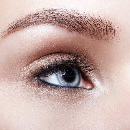 蓝色人类女性眼睛的特写宏拍摄_高清图片_邑石网