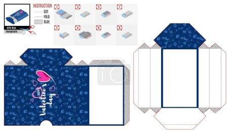 在打印模式蓝色框是简单的情人节_高清图片_邑石网