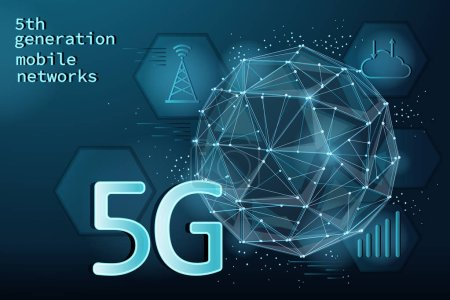 5th generation mobile networks technology concept and background