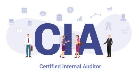 使用大字或文字的cia认证内部作者概念和具有现代平面风格的团队成员-向量_高清图片_邑石网