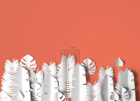 热带主题背景纹理与叶子