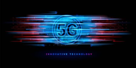 5g wireless connection for technology banner