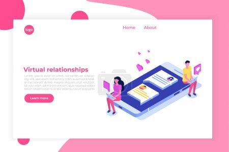 虚拟关系、在线约会、社交网络概念._高清图片_邑石网