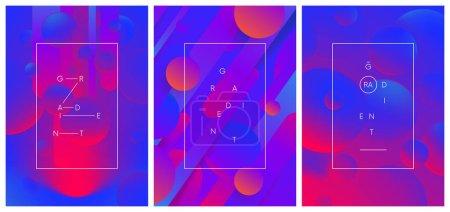 一套富有创意的时尚渐变构图, 动态彩色 ab_高清图片_邑石网