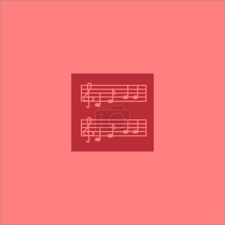 musical notes flat icon, vector illustration