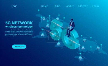 横幅5g网络无线技术理念。技术和电信的概念_高清图片_邑石网