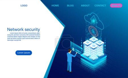 网络数据安全概念。 数据处理保护_高清图片_邑石网