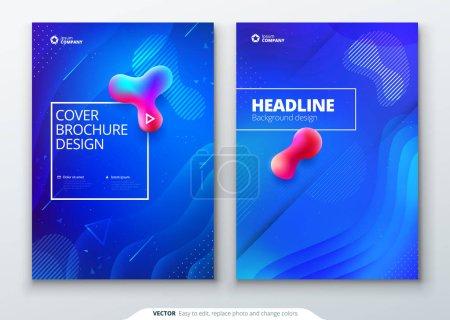 液色盖套。流体形状组成。宣传册设计。公司商业模板的小册子, 报告, 目录, 杂志, 书籍, 小册子。未来设计海报。Eps10 矢量