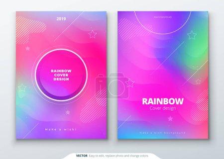 液体颜色覆盖集。流体的形状组成。未来派设计海报。Eps10 矢量