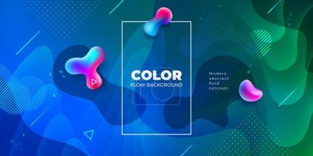液色背景设计。流体梯度形状组成。未来设计海报。Eps10 矢量
