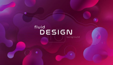 Colorful geometric background pattern. Fluid shapes composition with trendy gradients.
