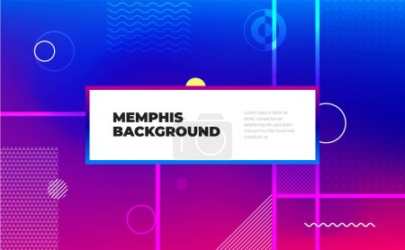 Memphis abstract color background design. Fluid gradient shapes composition. Eps10 vector.