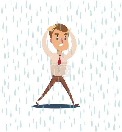 商人从雨中跑出来 ._高清图片_邑石网