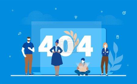 错误404页-平面设计样式彩色插图_高清图片_邑石网
