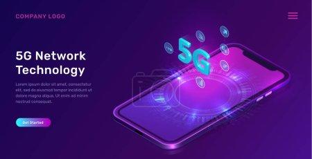 5g 网络技术,等轴测概念_高清图片_邑石网