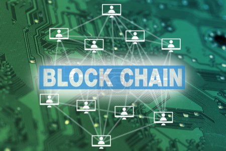 block chain, cryptocurrency concept