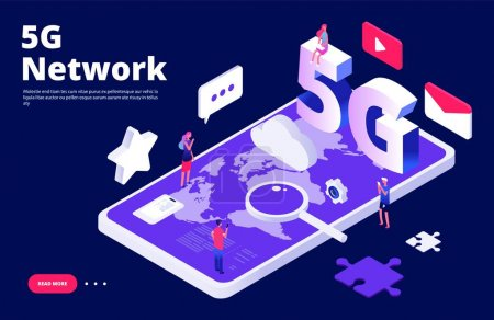 5g 网络概念。全球 5g 无线互联网着陆页_高清图片_邑石网