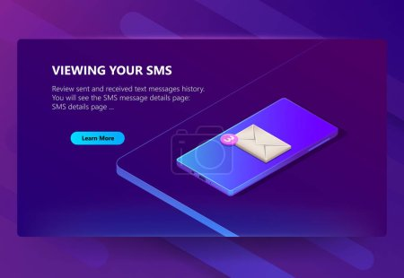 Vector site template for viewing messages history