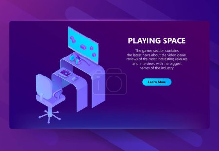 Vector 3d isometric gaming site, entertainment news